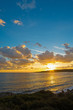 Colorful sunset by the coastline - 74030390