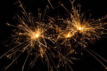 sparklers on black