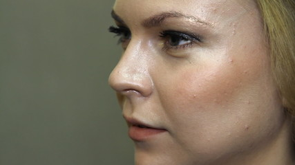 Close up portrait of a young beautiful woman