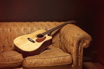 Guitar on the sofa