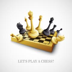 Chess. Vector illustration