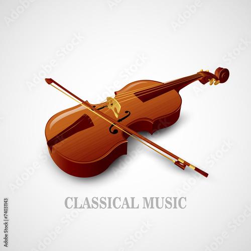 Violin. Vector illustration - 74031143