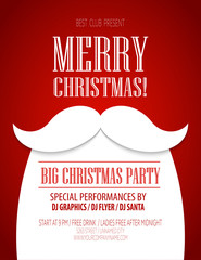 Christmas party poster. Vector illustration