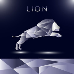 Lion abstract vectot