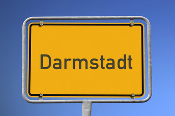 Ortsschild Darmstadt