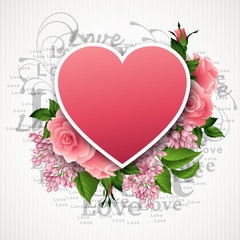 Valentines day vector illustration with a heart