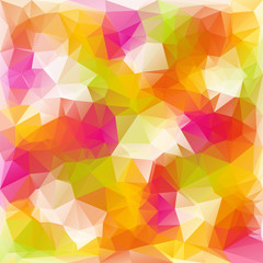 vector polygonal background in reflextive colors - spring