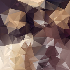 vector polygonal background in brown colors - chocolade
