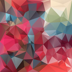 vector polygonal background triangular design in red blue colors