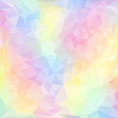 vector polygonal background pattern design in pastel colors