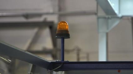 Orange Flashing Emergency Light