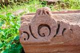 Ancient stonework of ruined temple of Mandor, Jodhpur poster
