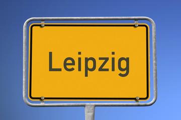 Ortsschild Leipzig