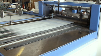 Big polymeric tape roll unreel for a printing press