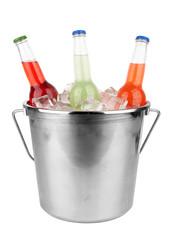 bottles in bucket
