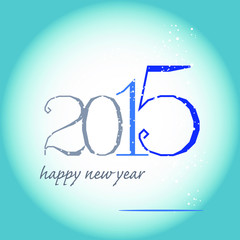 greeting card 2015 blue