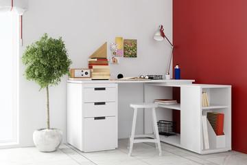 Schreibtisch zu Hause als Home Office