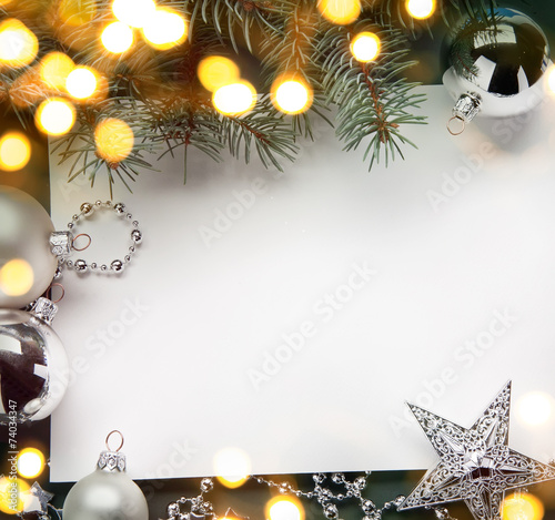 canvas print picture art christmas holiday background; tree light