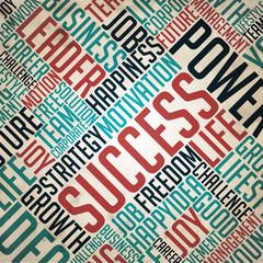 Success - Word Cloud Concept.