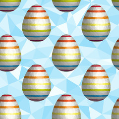 Low Poly Easter Egg Seamless Background