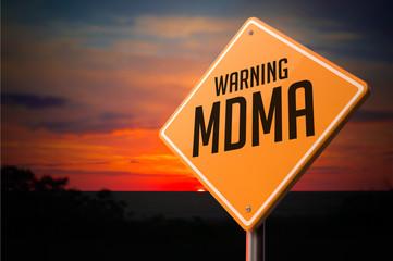 MDMA on Warning Road Sign.