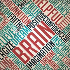 Brain - Word Cloud Concept.