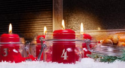 Kerzen, 4. Advent