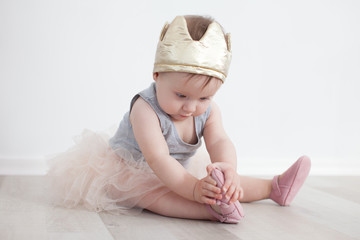 Eighth-month child in princess costume
