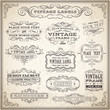 Vintage Calligraphic Labels Set - 74035370