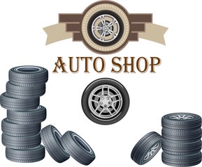 auto shop vector logo