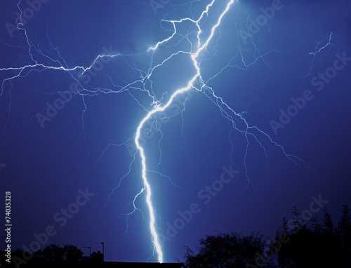 Foto op Canvas Onweer Lightening storm