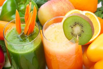 Obst und Gemüsesmoothie