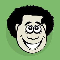 Smiling cartoon face, vector