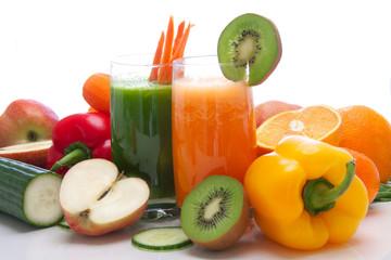 Abnehmen mit Obst und Gemüsesmoothies
