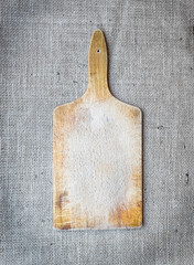 Rustic wooden cutting board