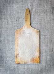Rustic wooden cutting board