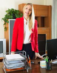 Businesswoman in office interior