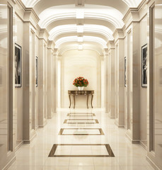 Entrance hall in classic style 3