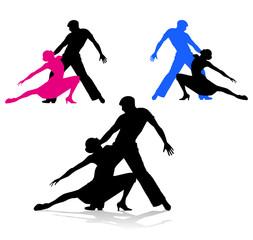 silhouette di ballerini