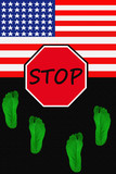 USA  illegal immigration poster