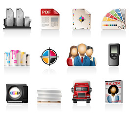 Offset printing icons
