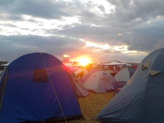 Sunset at Open Flair Festival