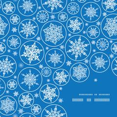 Vector falling snowflakes frame corner pattern background
