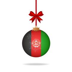 Christmas ball flag Afghanistan