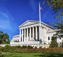 US Supreme Court Capitol Hill Flag Daytime Washington DC