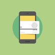 Mobile payments flat icon illustration