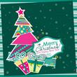 Obrazy na płótnie, fototapety, zdjęcia, fotoobrazy drukowane : Template Christmas greeting card, vector