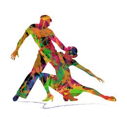 coppia astratta di ballerini
