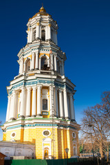 Close up view of Kiev Great Lavra Belltower