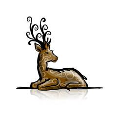Deer sketch for your design